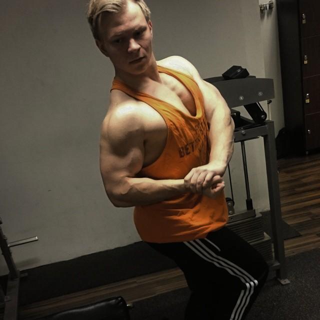 chest biceps deltoids